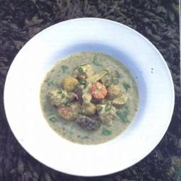 GREEN MONKFISH AND PRAWN CURRY Stein