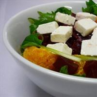 Beetroot and orange salad with goats cheese